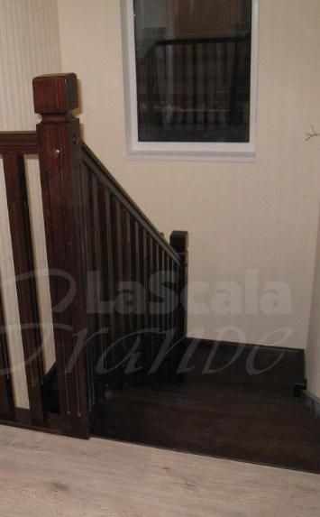 лестница в дом из дуба в СПб