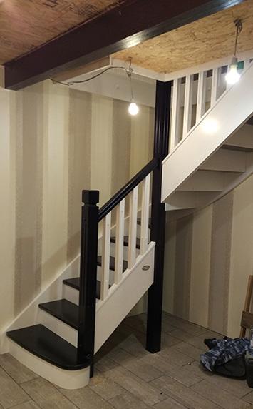 Лестница на дачу в поселке Варлоково