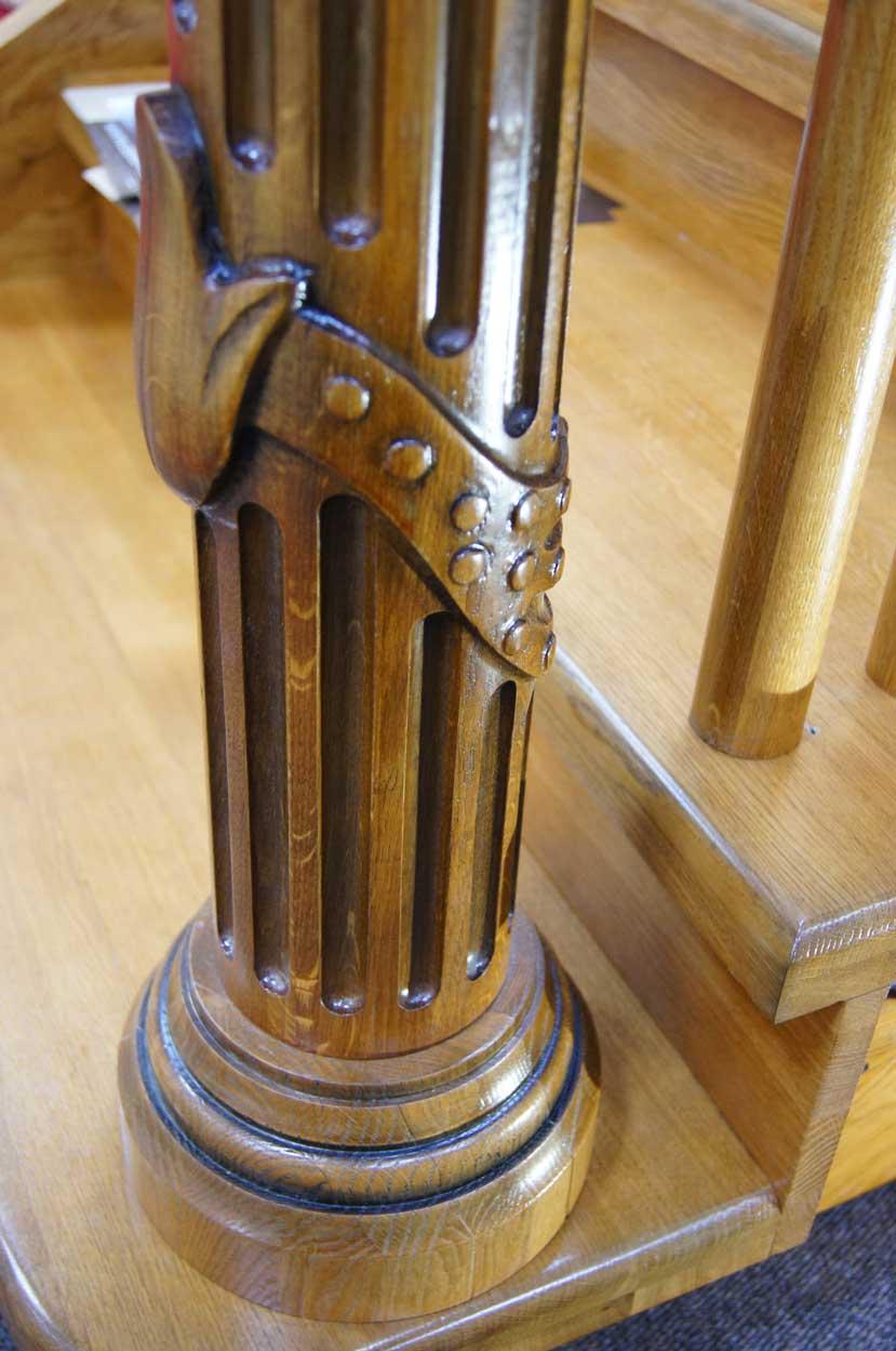 Заходной столб для лестницы - изготовление на заказ Минск